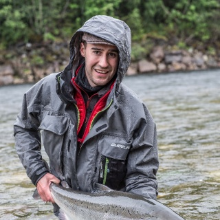 Peter Johansson with a typical early season salmon from our beats