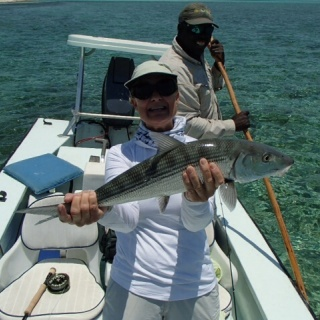 Bonefish Wanda with a nice one