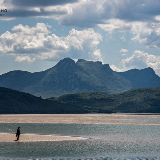 Yes, this is saltwater fly fishing in Scotland!