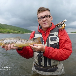 Lovely brown on traditional Scottish wet flies.