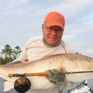 giant redfish on the Neuse River near Oriental, NC