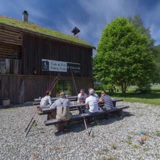 Lax cafe and Pub, part of the Winsnes Fly Fishing Lodge