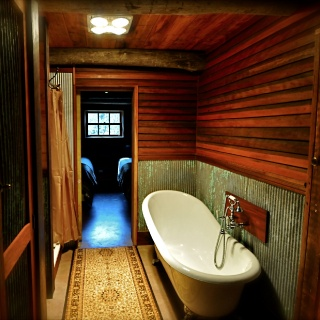 Luxuriously appointed bathrooms...