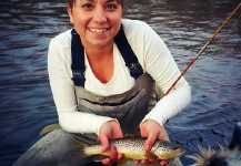Jessica Strickland 's Fly-fishing Photo of a Brown trout – Fly dreamers