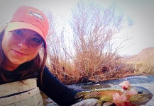 Fly-fishing Pic of Rainbow trout shared by Jessica Strickland – Fly dreamers