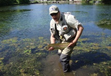 Cyr Wyart 's Fly-fishing Pic of a Rainbow trout – Fly dreamers