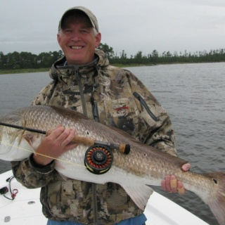 giant redfish on Capt. Gary's Pop-N-Fly rig