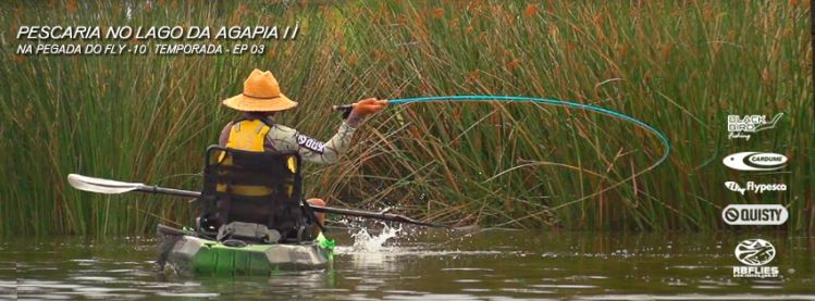 In the Kayak Fly Fishing! BRAZIL!!!