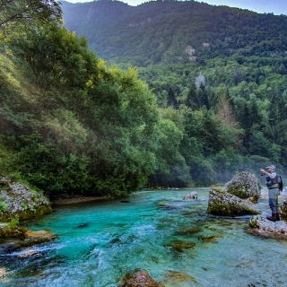 Fly fishing in Slovenia with URKO Fishing Adventures  More info: http://www.urkofishingadventures.com/