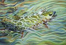 Impressive Fly-fishing Art Picture by ROBERT CORSETTI - Artist
