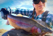 Jessica Strickland 's Fly-fishing Photo of a Rainbow trout – Fly dreamers